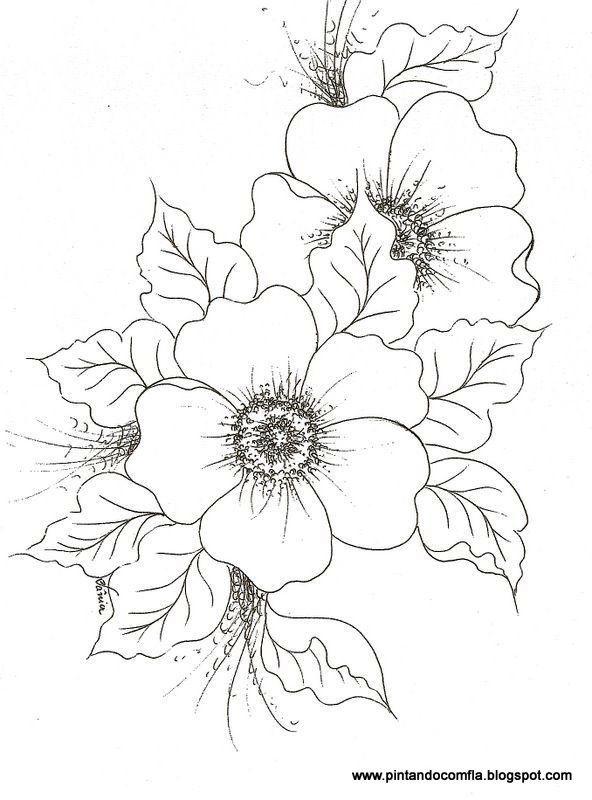 Algumas Florzinhas Riscos Para Pintura Flores Para Colorir
