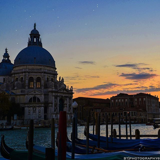 evening arrives over the lagoon city of #venice by brianthio