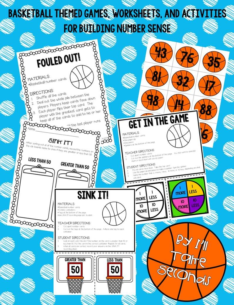 Number Sense Slam Dunk- Numbers 1-120 | Worksheets, Activities and ...