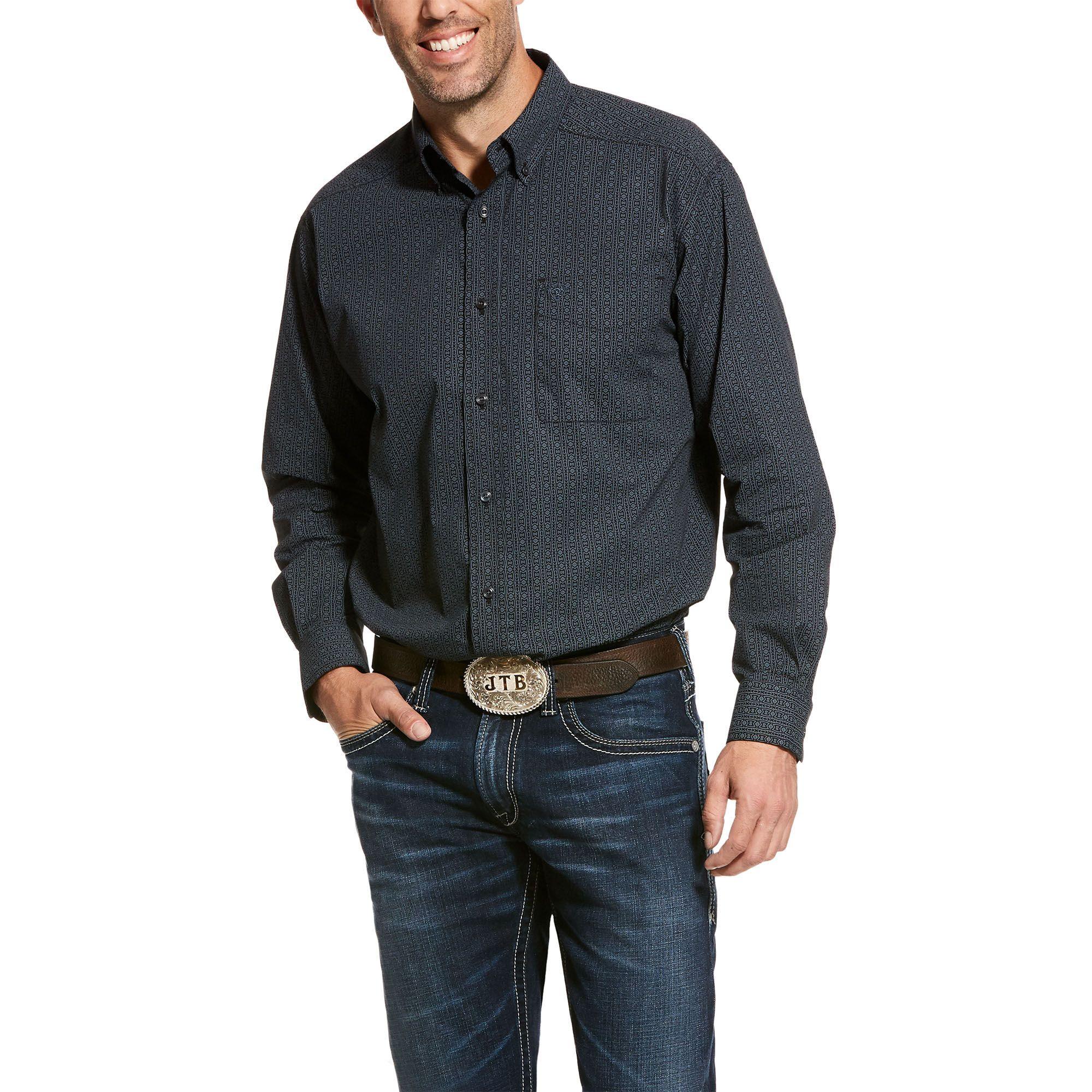 ARIAT Mens Classic Fit Long Sleeve Shirt