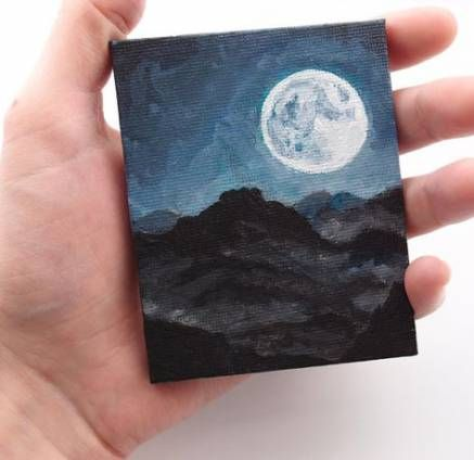 67 Ideas Painting Ideas On Canvas Aesthetic Mini Canvas Art Canvas Painting Painting Art Projects