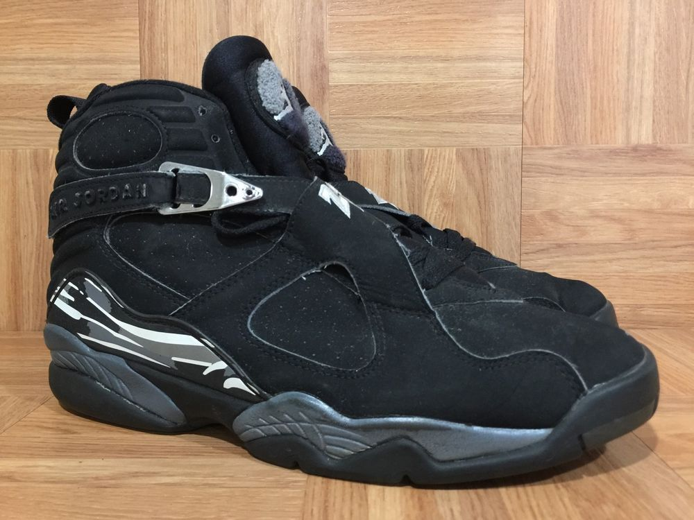 3d4ca4a2ea2c RARE🔥 Nike Air Jordan 8 VIII Retro Black Chrome Sz 12 305381-001 2003  Release