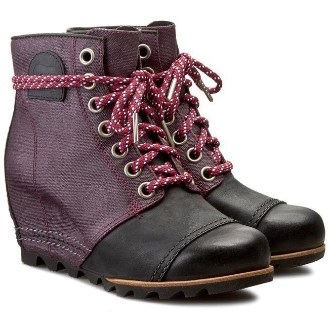 Botki Sorel Premium Wedge Nl 2174 562 Purple Dahlia Purple Dahlia Sorel Purple