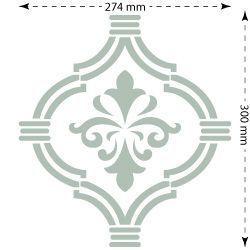 Stencil plantilla para paredes adamascado 012 medida for Plantillas para pintar paredes