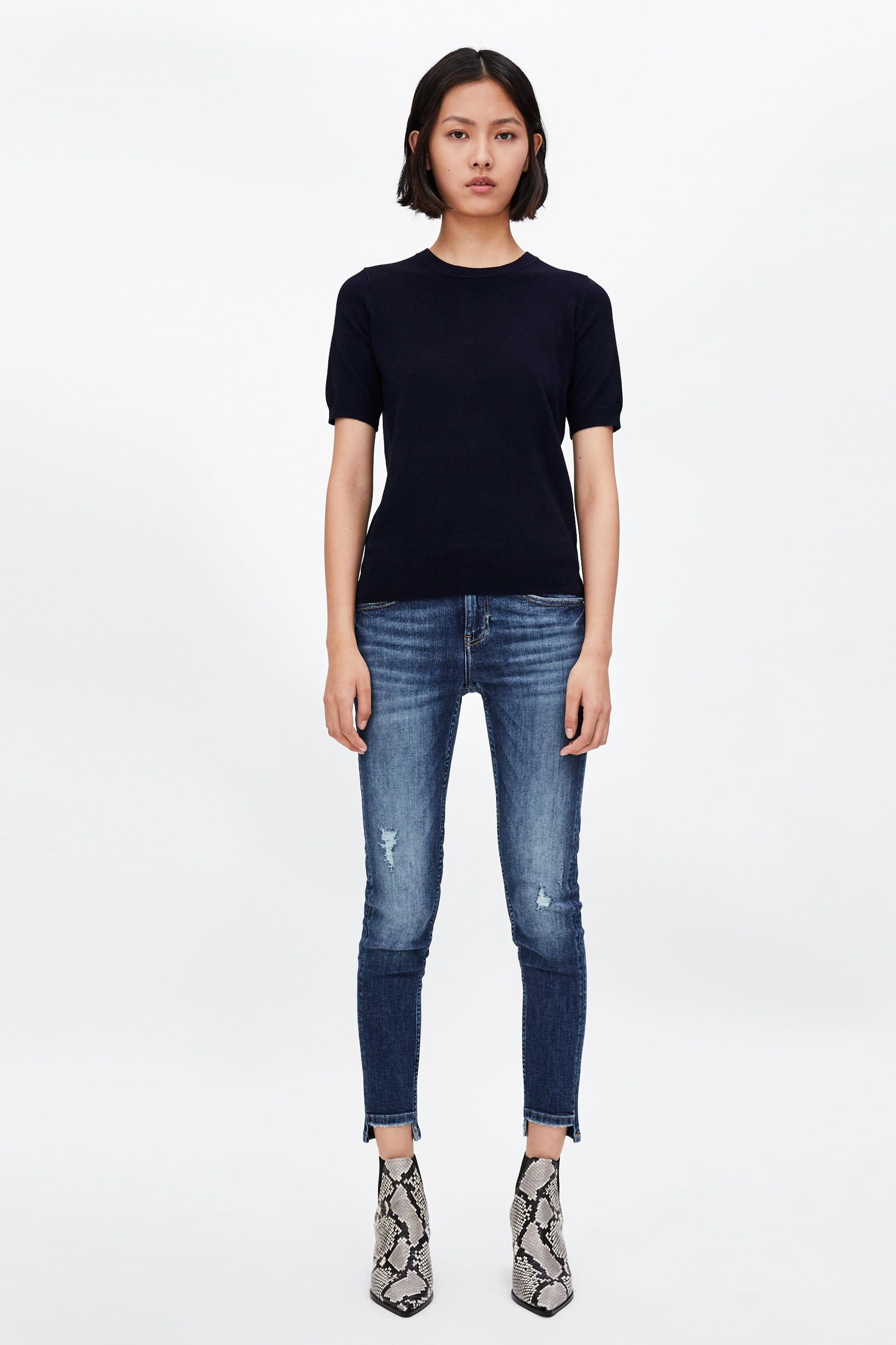 16a58be9 Image 1 of BASIC KNIT TOP from Zara | sketching women | Tops, Tricot ...