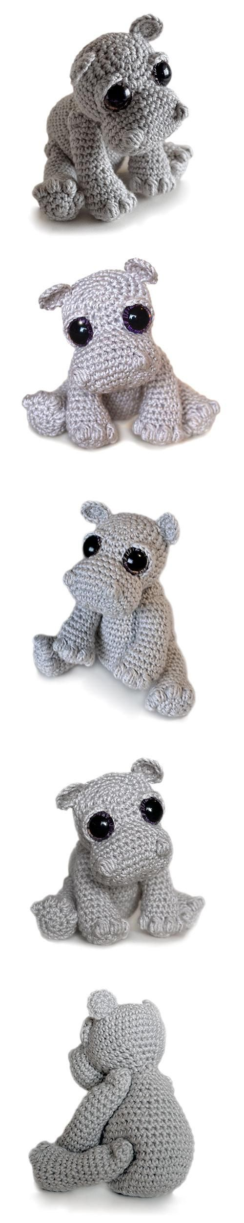 Rosie the Hippo amigurumi pattern by Patchwork Moose (Kate E Hancock ...