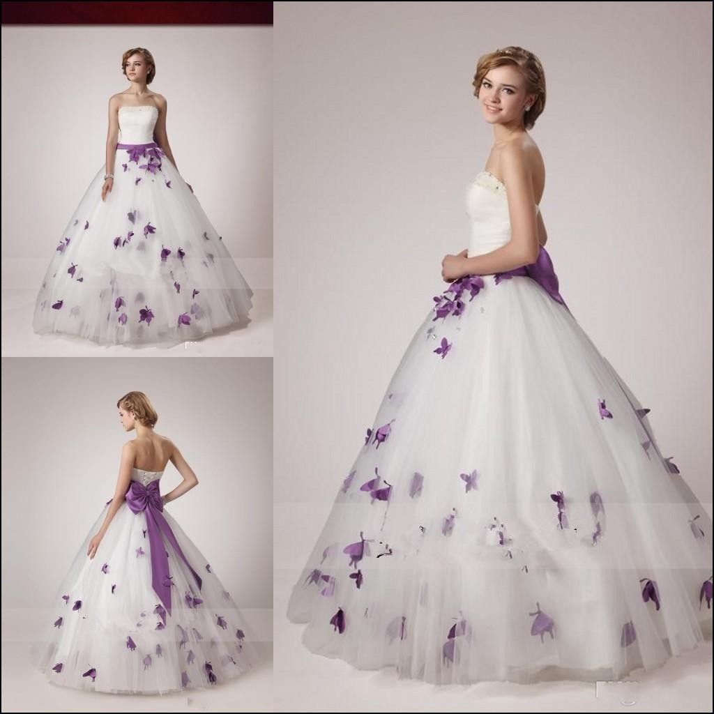 Purple Ball Gown Wedding Dresses