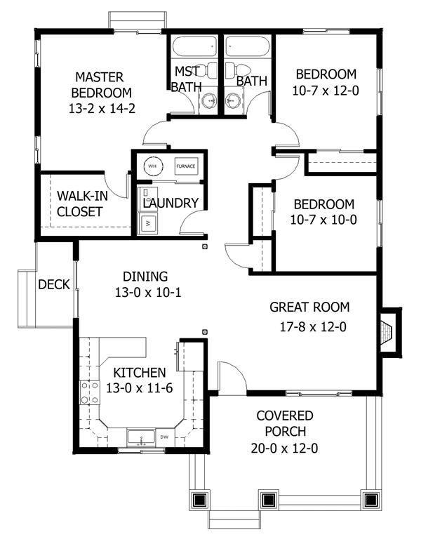 Image Result For Family Bungalow Floor Plan Denah Rumah Arsitektur Desain Rumah