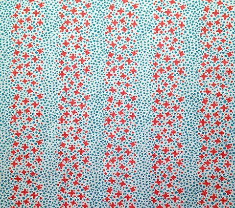Alan Campbell Fabric: Jacks II - Custom Shrimp / Turquoise