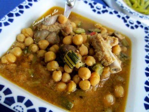 Cocinando para ellos garbanzos con costilla y verduras - Cocinando para ellos ...