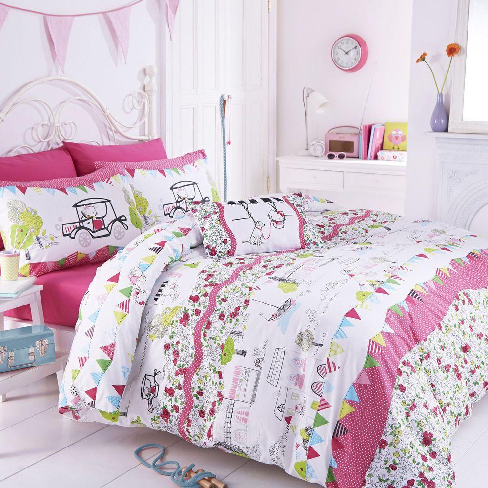 Hello Kitty Hampstead Heaths Girls Kids Childrens Bedding Set