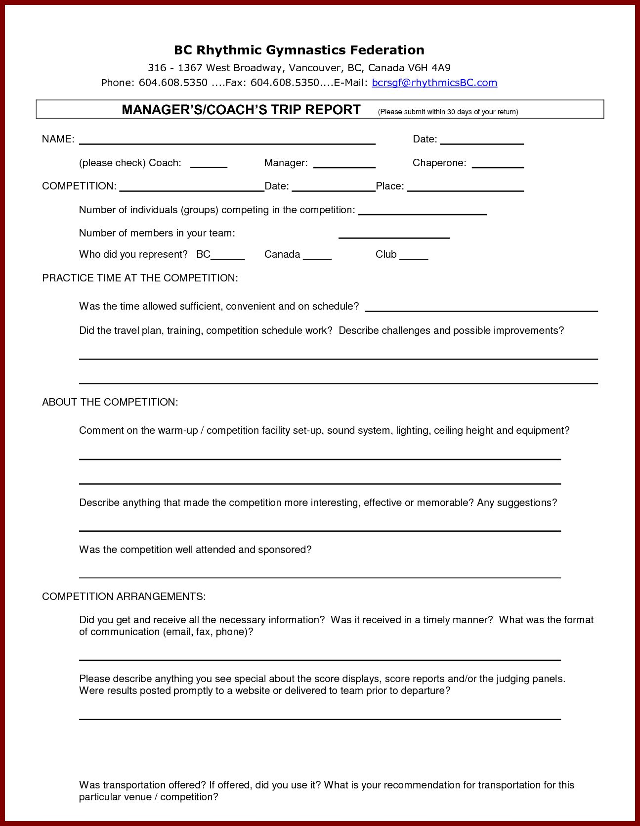 13 Business Trip Report Examples Pdf Word Apple Pages