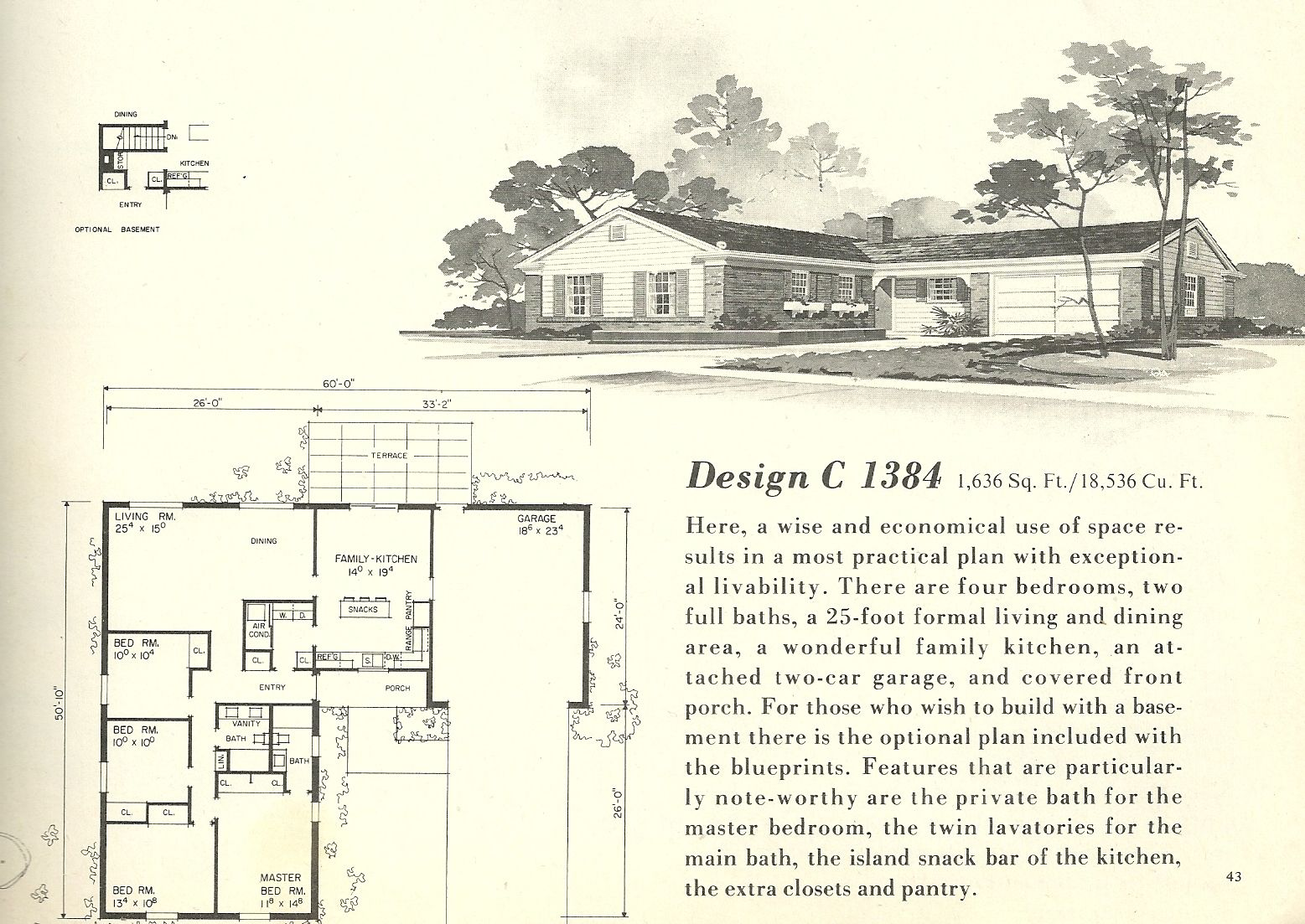 13 1960s Ranch House Plans Mid Century 1960 From The Lrg