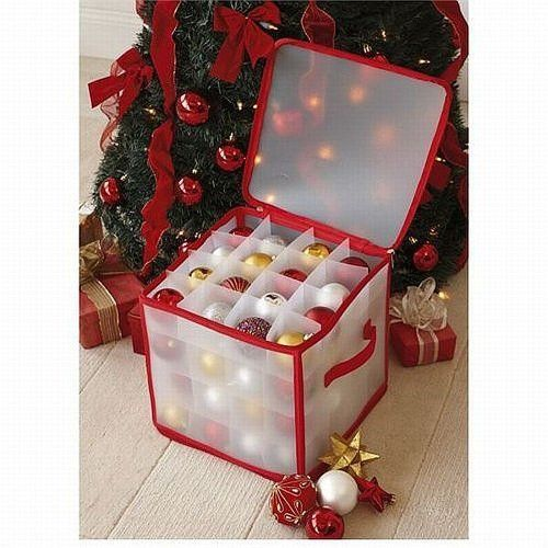 CHRISTMAS TREE 64 BAUBLE DECORATIONS STORAGE BOX BRAND NEW TJM http