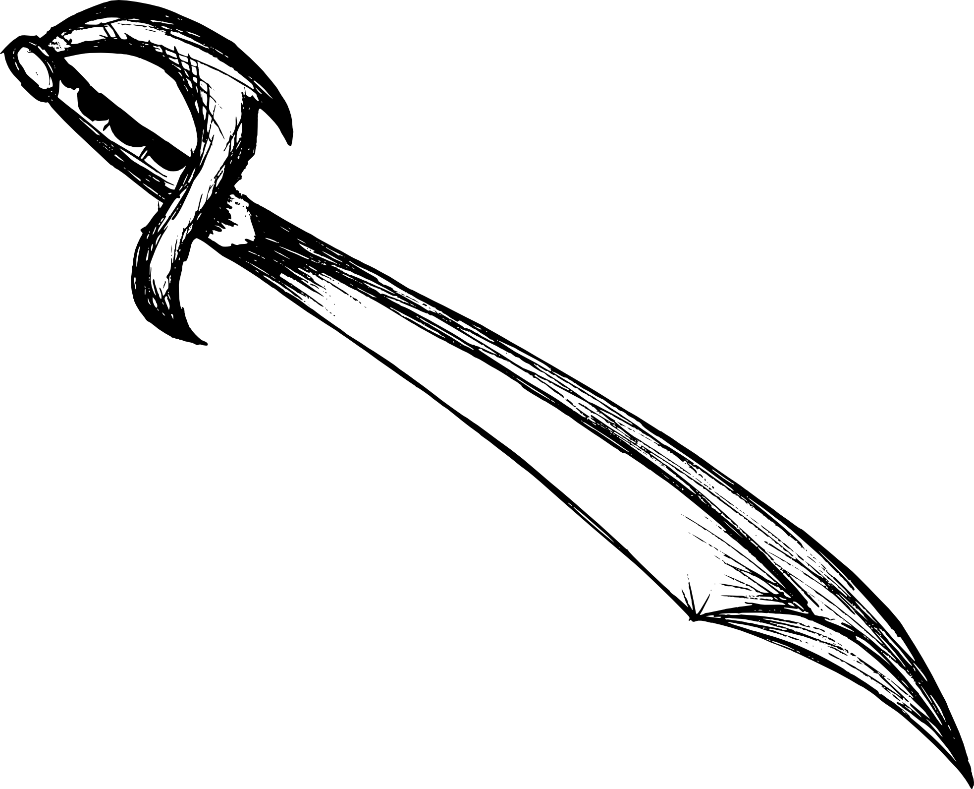 Black Sword Drawing
