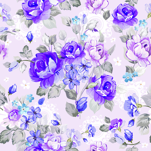 Beautiful Floral Patterns Vector Ser 04 Vector Flower Vector Pattern Free Download Floral Wallpaper Floral Pattern Vector Flower Wallpaper