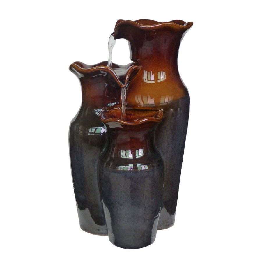 Delicieux Style Selections 3 Vase 2 Tier Indoor Fountain With Pump