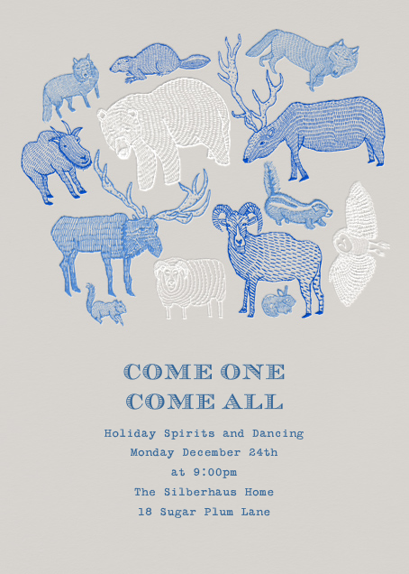 Come One Come All by Paperless Post. Send custom online holiday party…