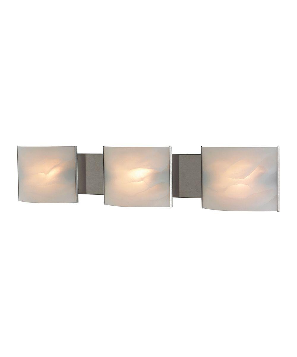 Stainles Steel Three-Light Vanity