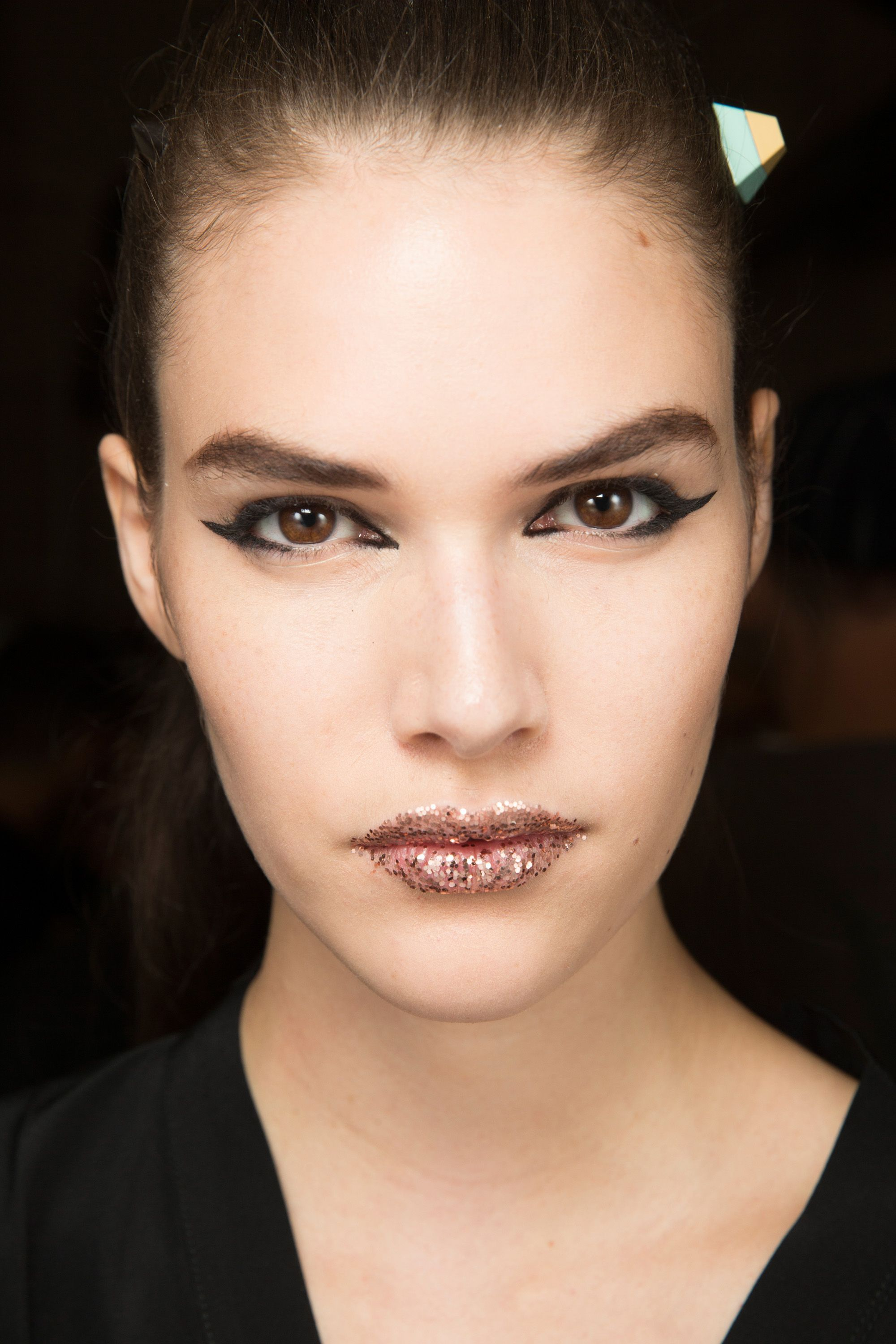 Spring/Summer 2017 Backstage Beauty Catwalk makeup