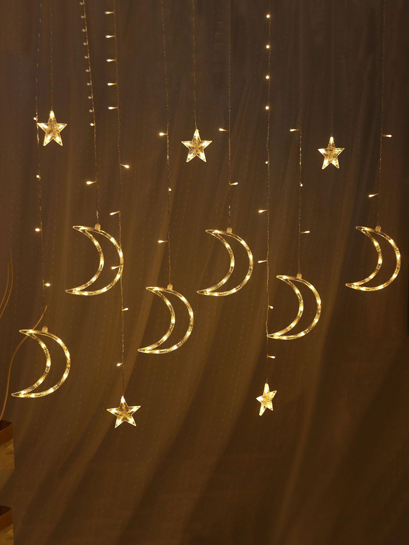 Plug In 12pcs Moon Shaped LED Light