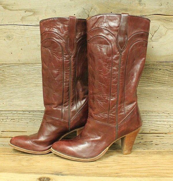 e255aafabd0 Womens dan post red leather heel western/cowboy boots sz 7.5 | Boots ...