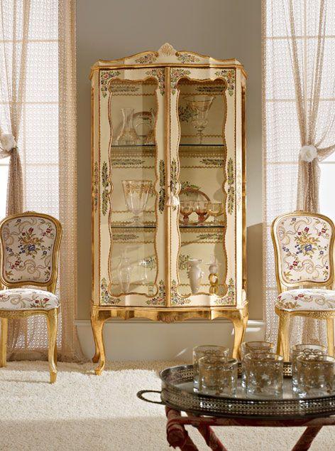 Italian Luxury Dining Room Wood Furniture Andrea Fanfani Display Cabinet