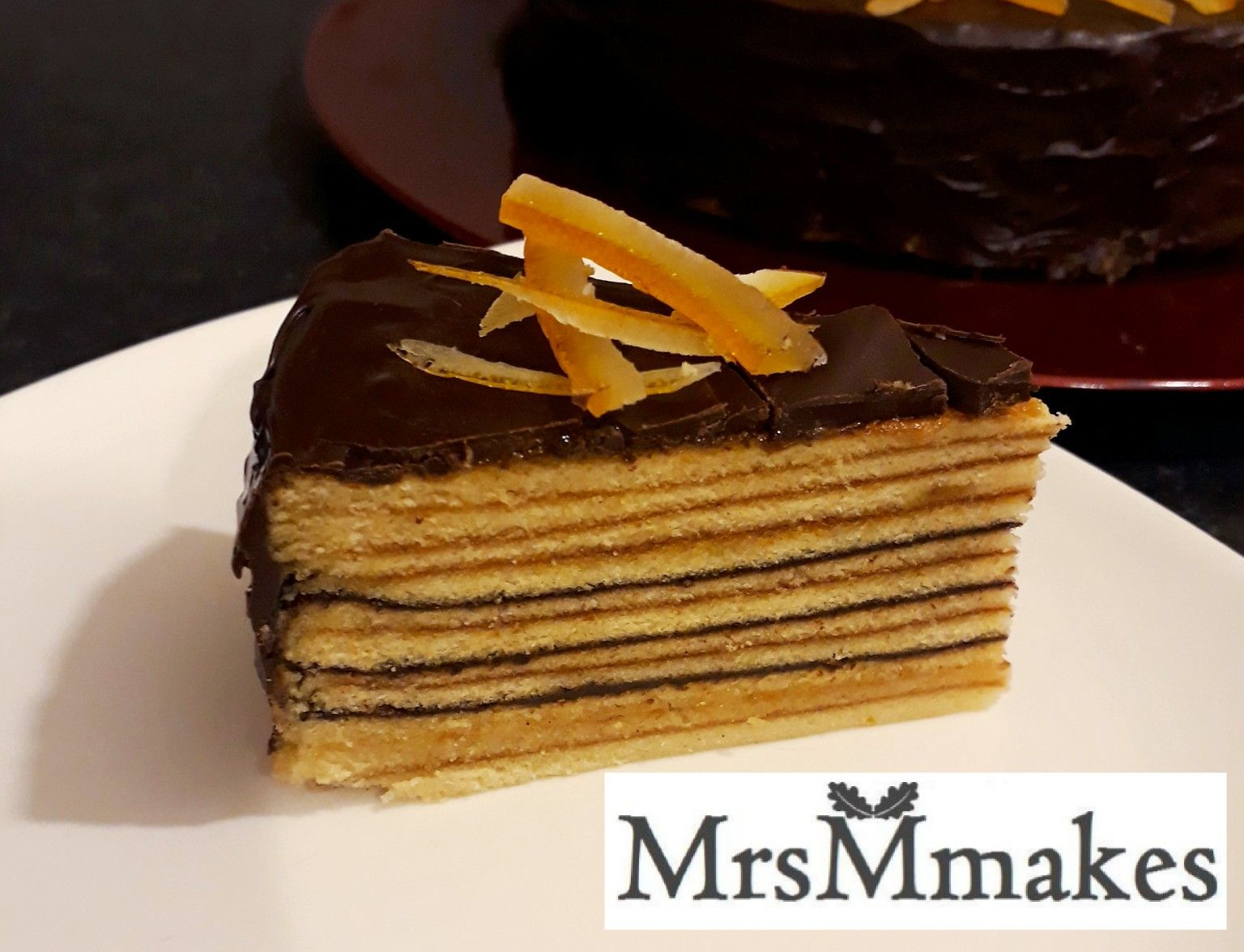 Jaffa cake - chocolate, orange and marzipan  Mary Berry would be