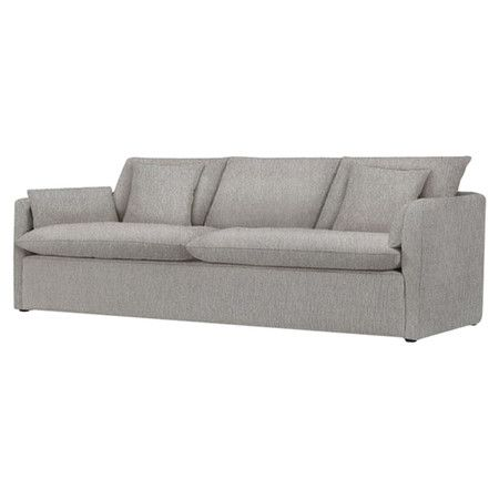 Light gray sofa with a kiln-dried hardwood frame and European-grade ...