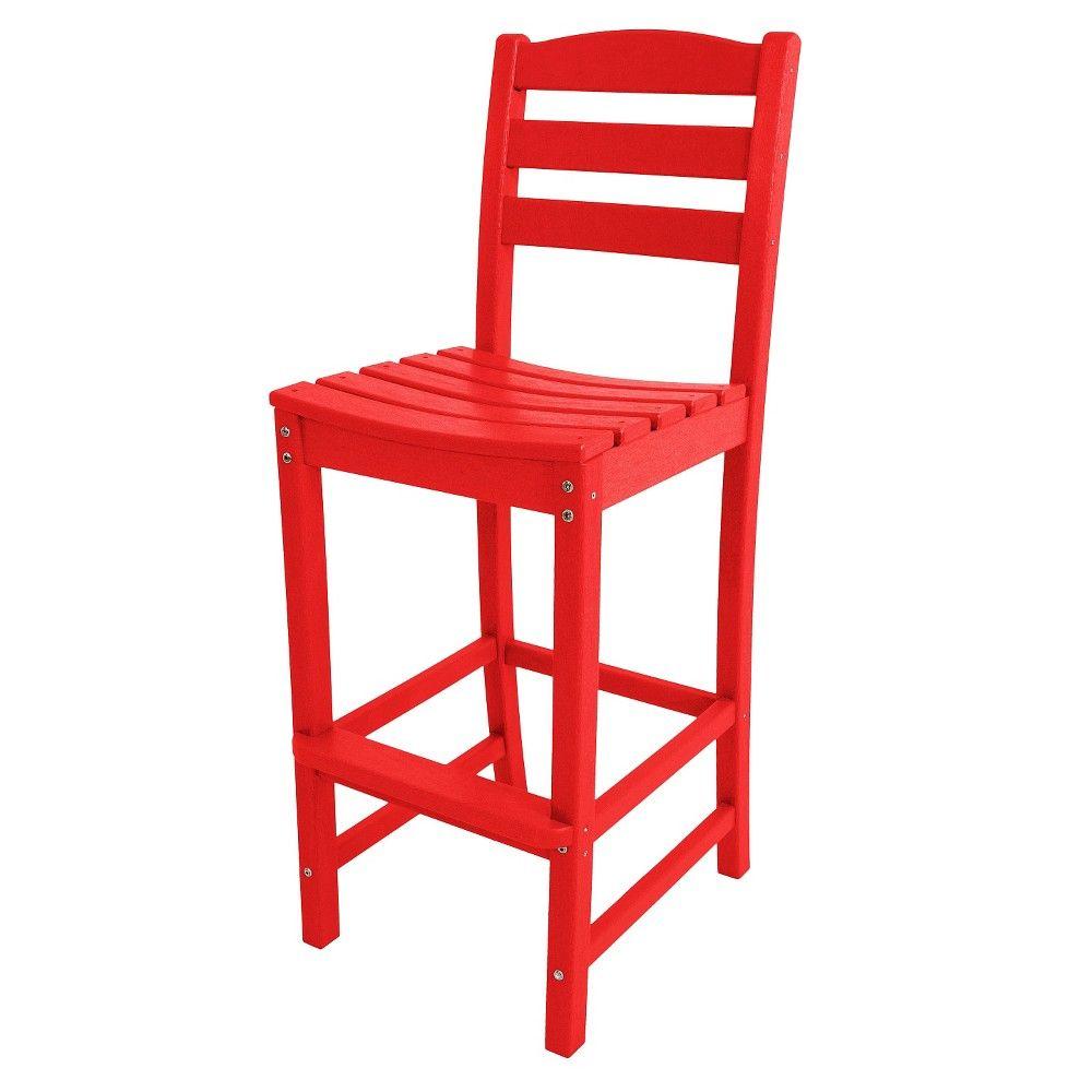 Polywood la casa bar height patio dining side chair