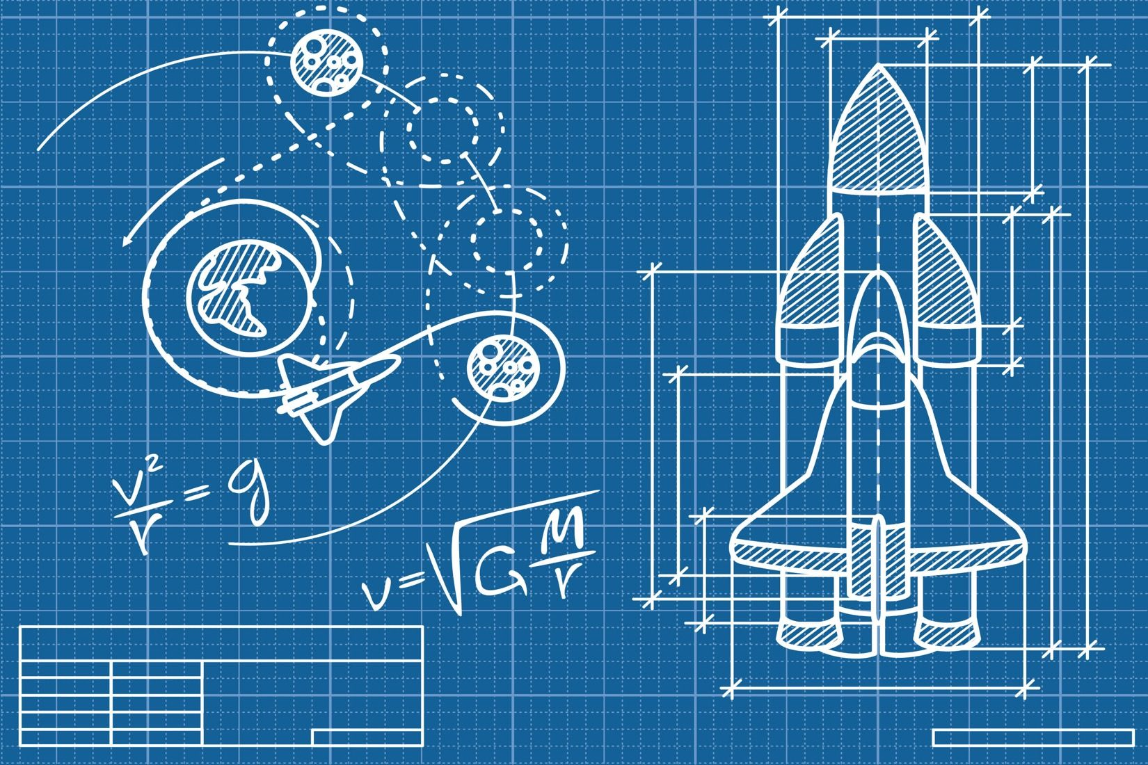 Rocket blueprint wallpaper wall mural muralswallpaper rocket blueprint mural wallpaper custom made to suit your wall size by the uks no malvernweather Gallery