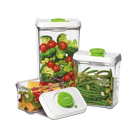 Cuisinart 6 Piece Fresh Edge Vacuum Food Storage Green Food