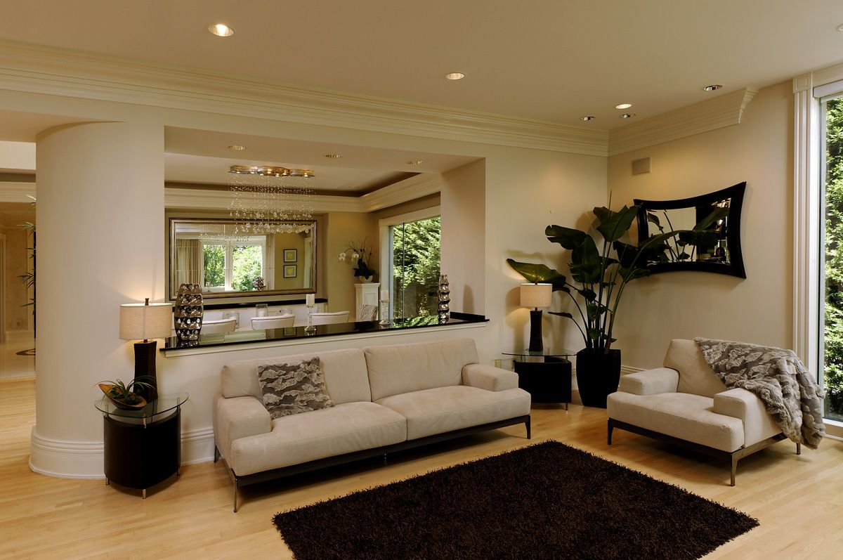 Beige Scheme Color Ideas for Living Room Decorating with Simple ...