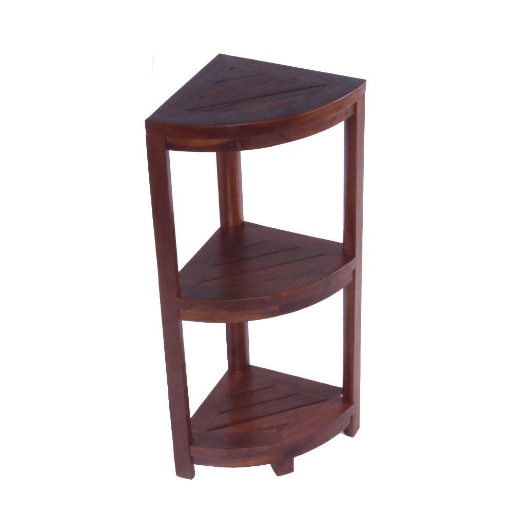 Decoteak Oasis 3-Tier Teak Corner Shower Shelf | Pinterest | Teak ...