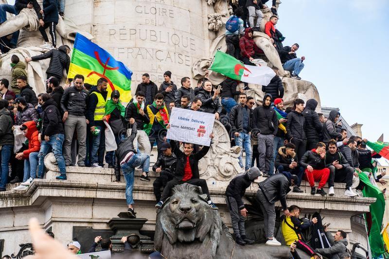 Protest In Paris Against A Fifth Mandate Of Algeria S Bouteflika Stock Photo Spon Mandate Paris Protest Algeria Photo Ad Paris Algeria Photo