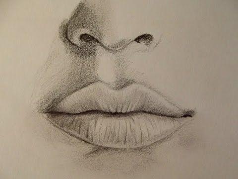 Realistischen Mund zeichnen - Zeichen Tutorial - YouTube - #Mund #Realistischen #Tutorial #YouTube #Zeichen #zeichnen #pencildrawingtutorials