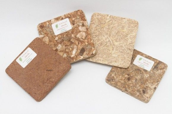 Kokoboard, made from natural waste by-products such as Rice