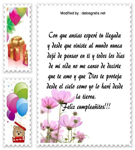 Buscar Bonitas Frases De Cumpleaños Para Mi Hijo Descargar Mensajes B Dedicatorias De Feliz Cumpleaños Feliz Cumpleaños Nieto Felicitaciones De Cumpleaños Hija