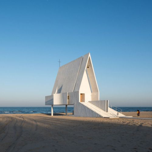 Seashore Chapel by Beijing-based Vector Architects is the...