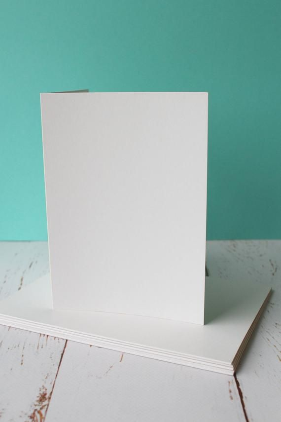 greeting card blanks off white 11cm x 15cm pack of 5