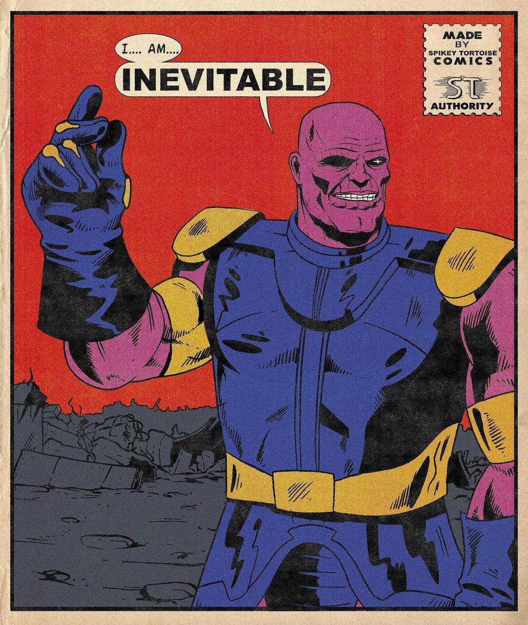 Thanos I Am Inevitable In 2021 Comics Marvel Comics Comic Book Style