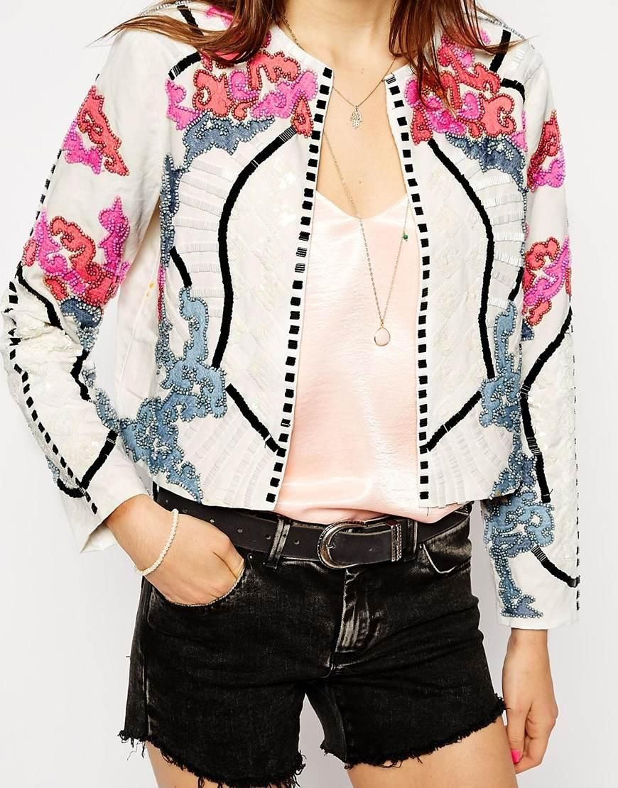 Asos asos jacket with harlequin embellishment at asos dress up