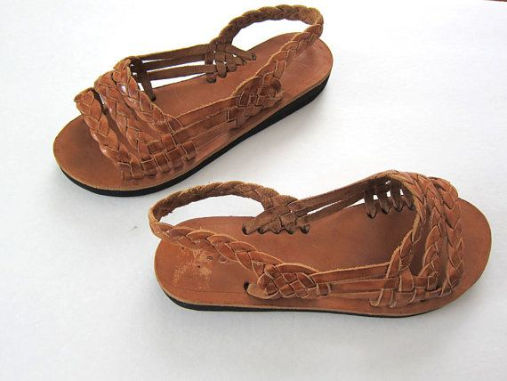 Huarache Sandals Mexican Sandals Brown Leather by MILKTEETHS