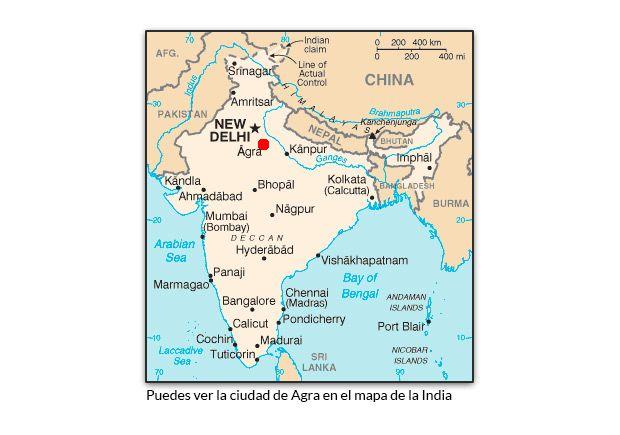 La Hermosa Leyenda De Amor Del Taj Mahal Mapa De La India Taj