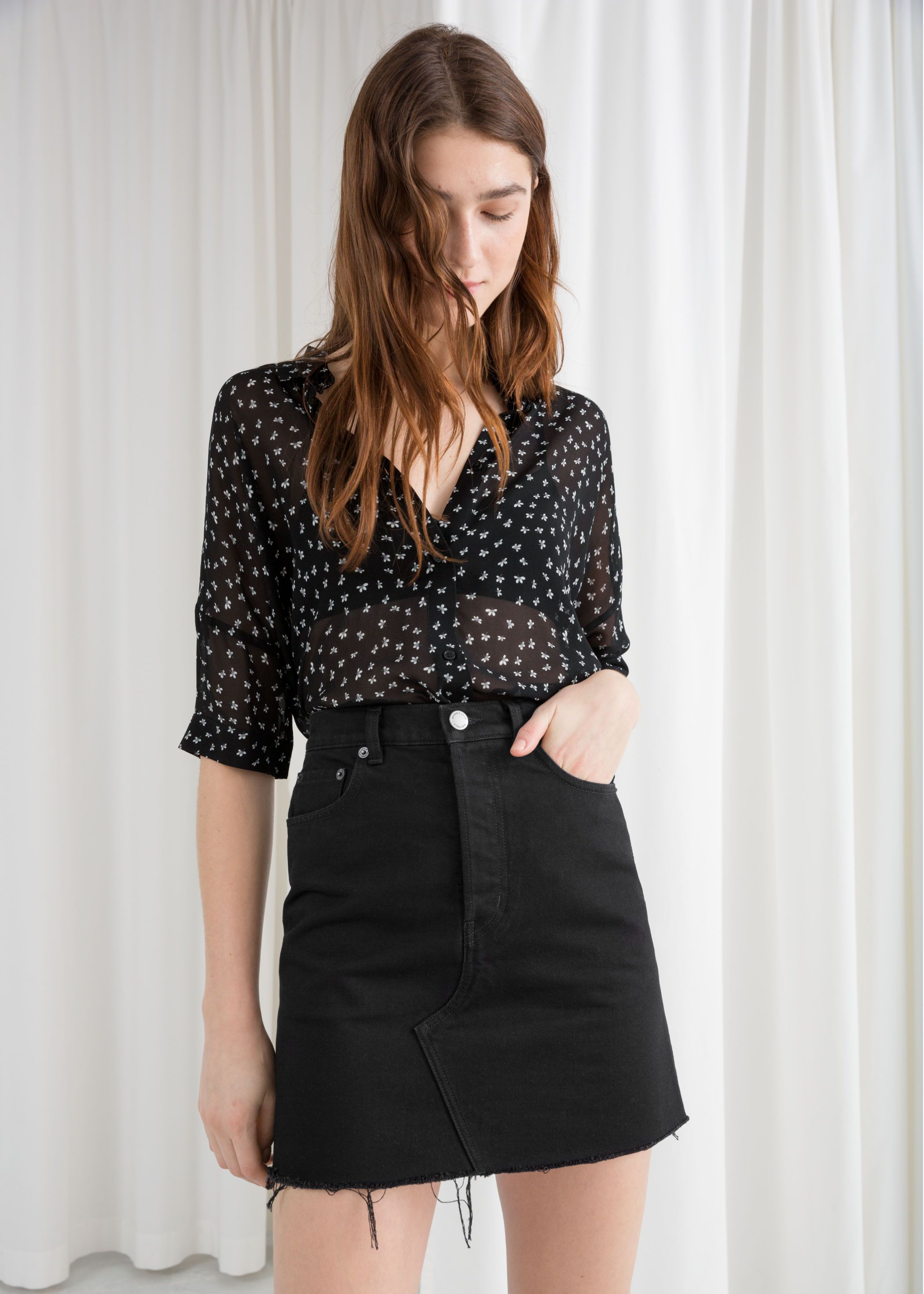 Buy How to oversized wear sheer blouse picture trends