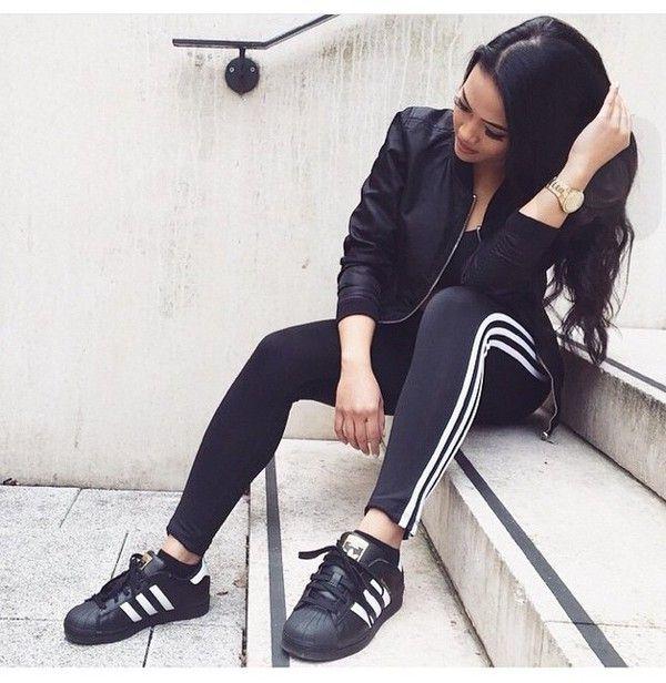 picture-cdn.wheretoget.it hdyxli-l.jpg. Black AdidasSport OutfitsAdidas  OriginalsTouchBlack WhiteInstagramSneakersPsClothing