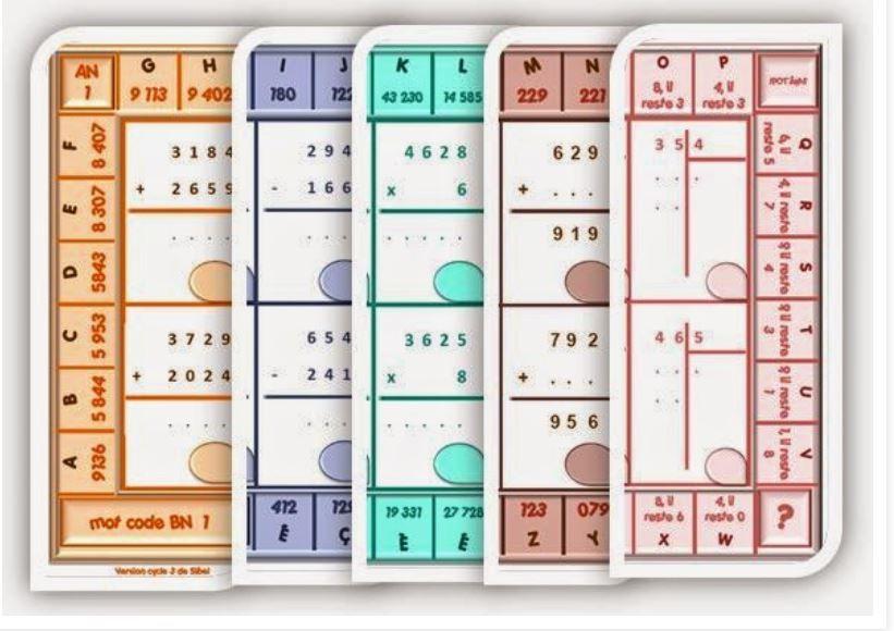 Ce2 Cm1 Calcul Autonomie Le Jeu Du Code Jeux Calcul Ce2 Cm1 Jeux Maths