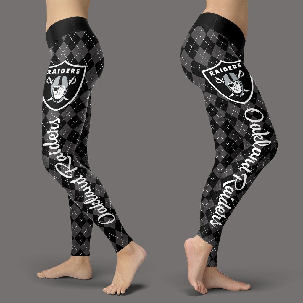 7199e8f9 Cosy Seamless Border Wonderful Oakland Raiders Leggings | Oakland ...