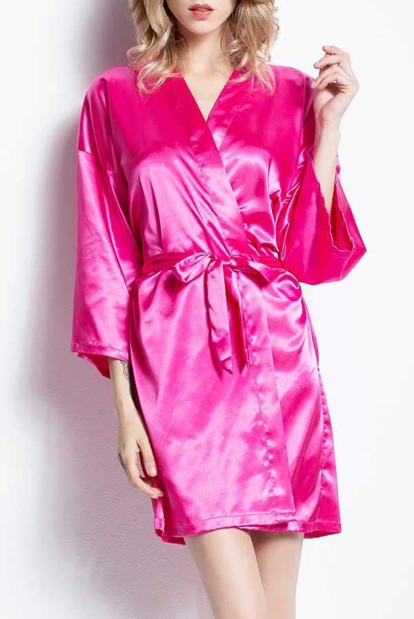00270f81c6 Satin Party Robes | Floral and Solid - Lots of colors in 2019 ...