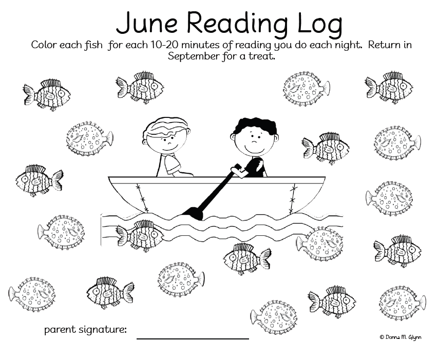 Welcome to Kinderglynn: Summer Reading Logs (June, July